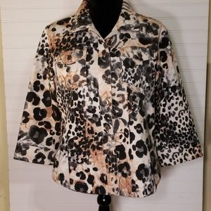 Westbound Petites Cheetah Print Cotton Jacket